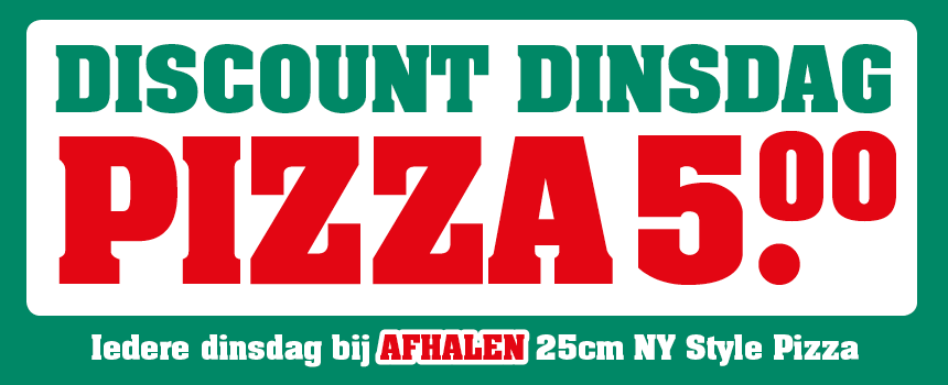 Discount Dinsdag New York Pizza